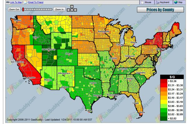 weekly gasoline outlook gasbuddy gas prices