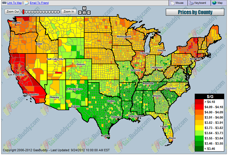 gas price map canada gasoline prices finally begin to decline in u s canada gasbuddy gas prices