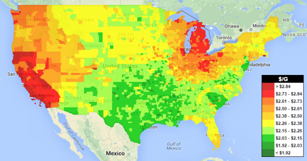 Gas Prices Inch Up Nationally, Spike in Midwest - GasBuddy ... on craigslist map, foreign military sales country map, bank of america map, rocky mountain crude pipeline map, mapquest map, evernote map, google map, national geographic map, disneyland hong kong map, pal codes map, starbucks map, target map, fuel-cost map, microsoft map,