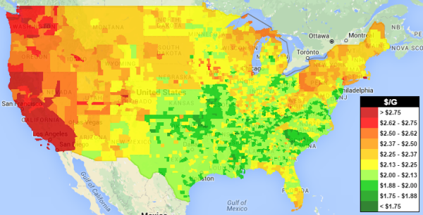 National Average Gas Price Down for 29th Straight Day