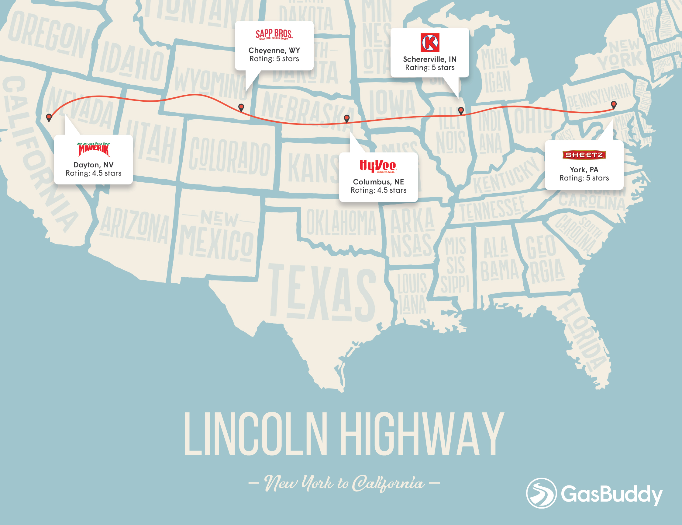 Shell Gas Station Lincoln Ne >> GasBuddy Reveals the Top 5 Pit Stops on the 5 Most Popular US Road Trip Routes - GasBuddy.com